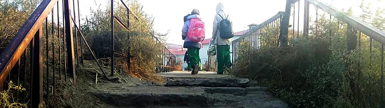 Desperate Turkmen School Pins Hopes on Cosmonaut to Get Bridge Repaired