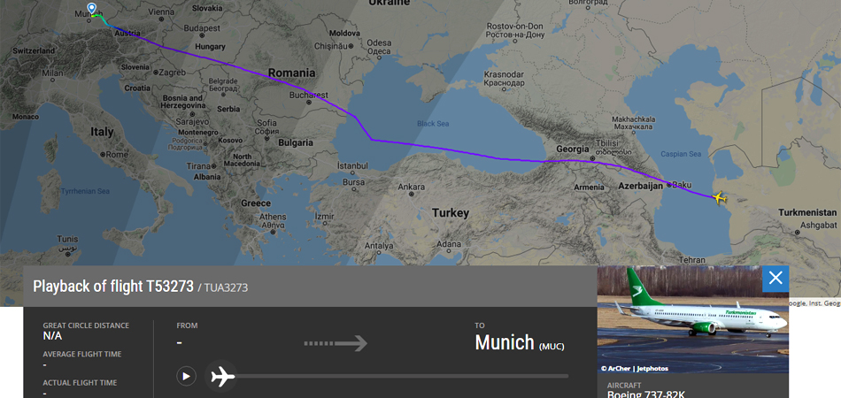 Turkmen Plane Flies to Munich to Pick Up Doctors (Updated)